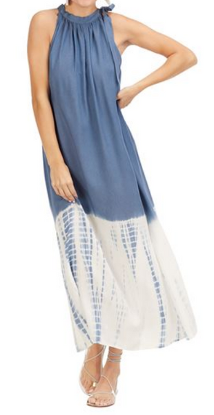 Blue Tie Dye Maxi Dress