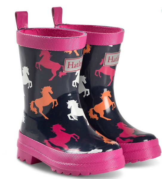 Navy Unicorn Rain Boots