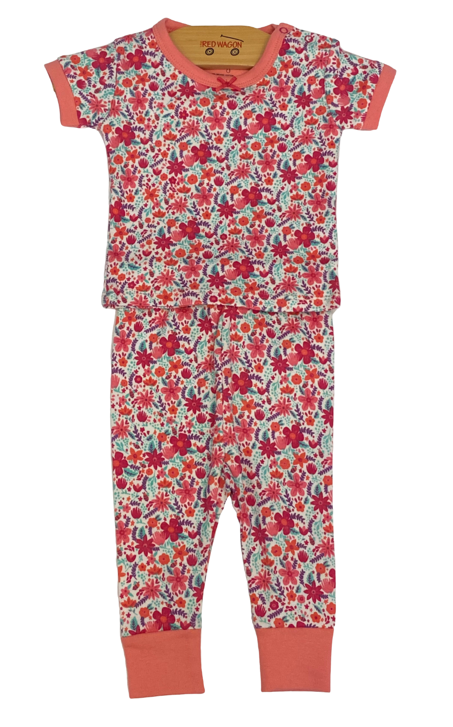 Pink Floral Pajama 2pc Set