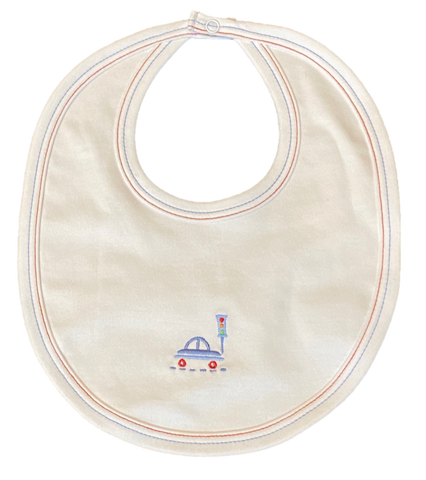 White Transportation Bib