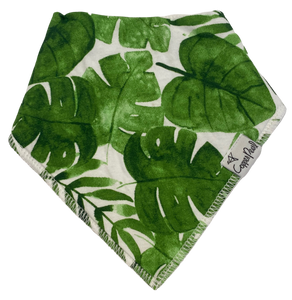 Green Palm Bandana Bib