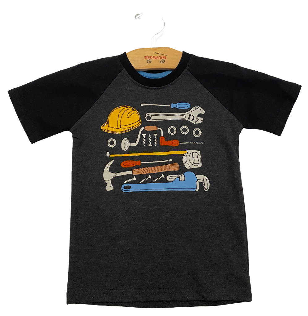 Gray and Black Tools Tee