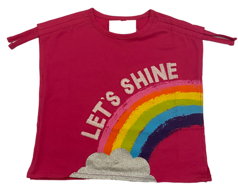 Pink Let's Shine Rainbow Tee