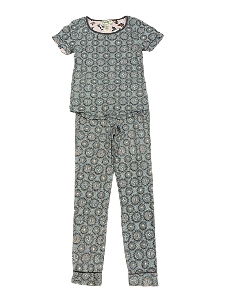 Gray Kaleidoscope 2pc Pajama Set
