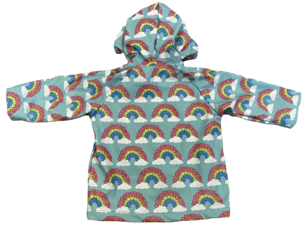 Blue Rainbows Raincoat