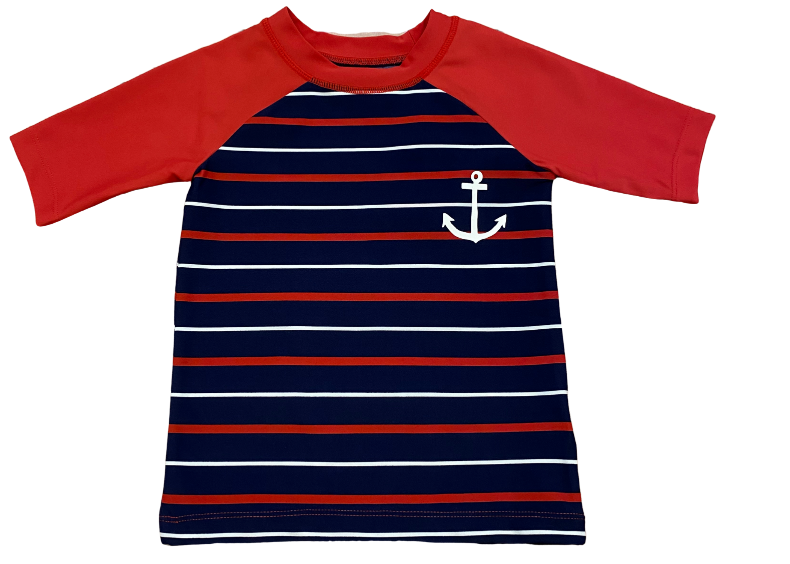 Navy and Red Rashguard
