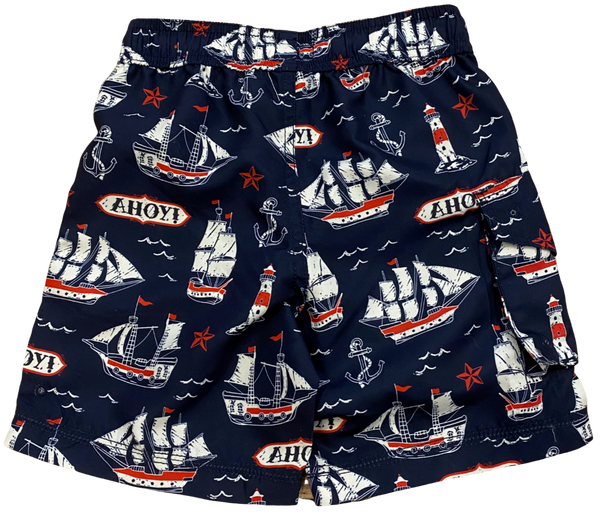 Navy Ahoy! Swim Shorts
