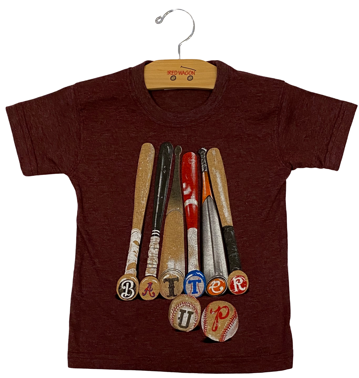 Maroon Batter Up Tee