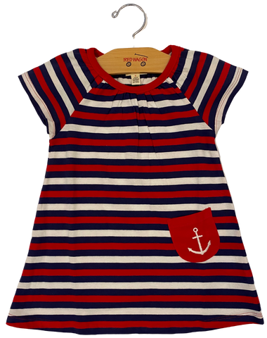 Nautical Stripe Anchor Dress