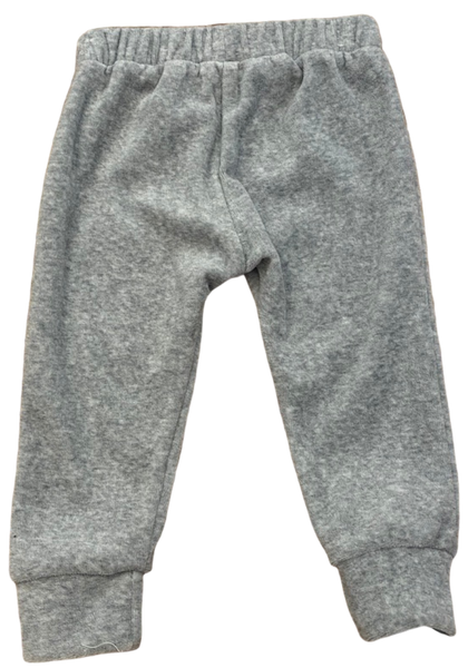 Light Gray Velour Joggers