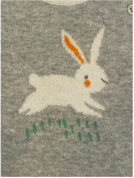 Gray Knit Bunny Coverall