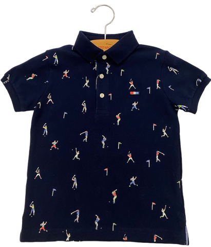 Navy Sports Polo Shirt