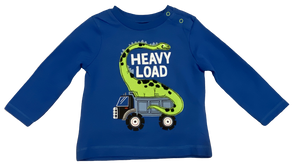 Blue Heavy Load Dinosaur Tee