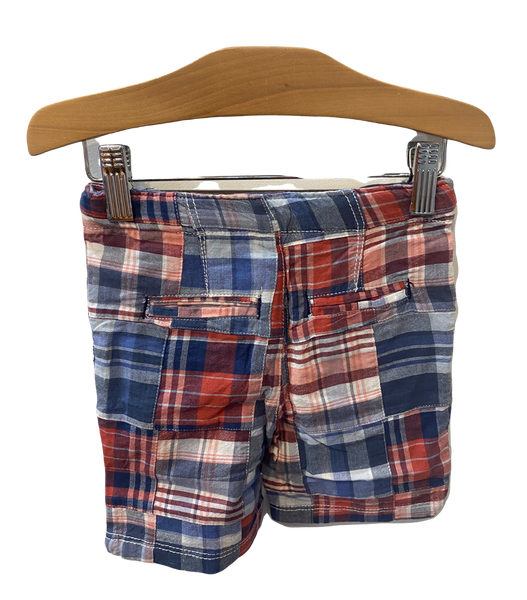 Red and Blue Checkered Shorts