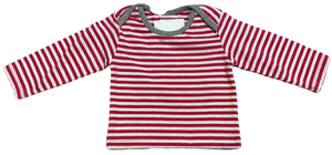 Pink and White Striped Long Sleeve Tee