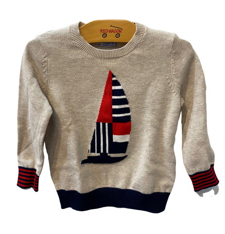 Tan Sailboat Long Sleeve