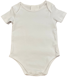 White Short Sleeve Onesie