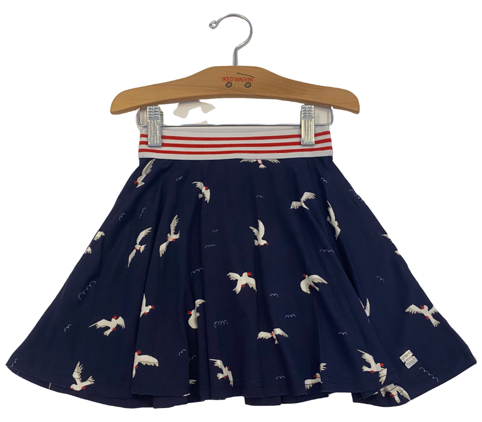 Navy Seagull Skirt