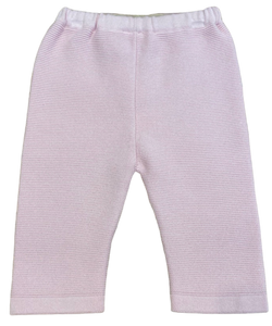 Pink Knit Capri Pants