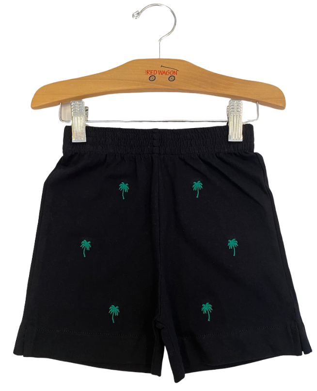 Navy Palm Tree Shorts