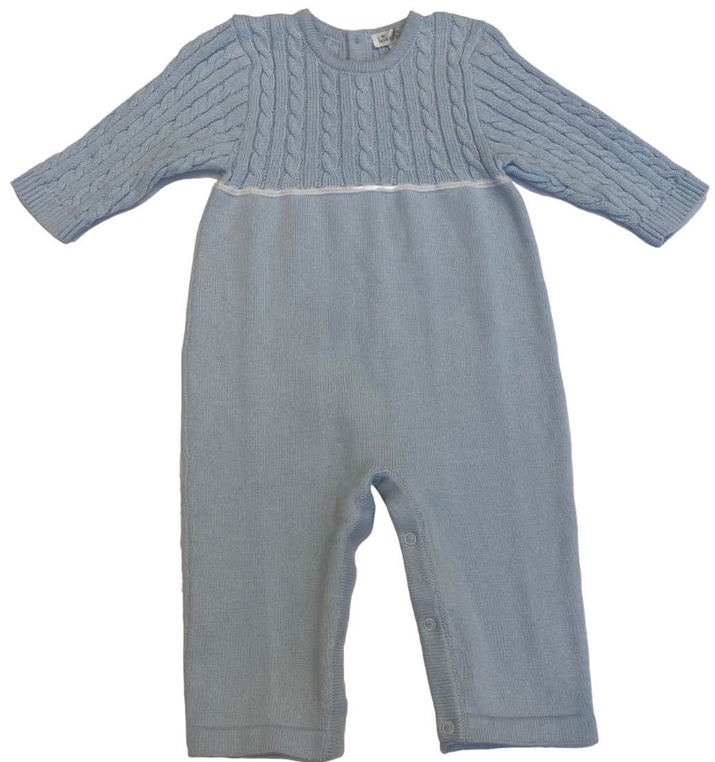 Blue Knit Coverall