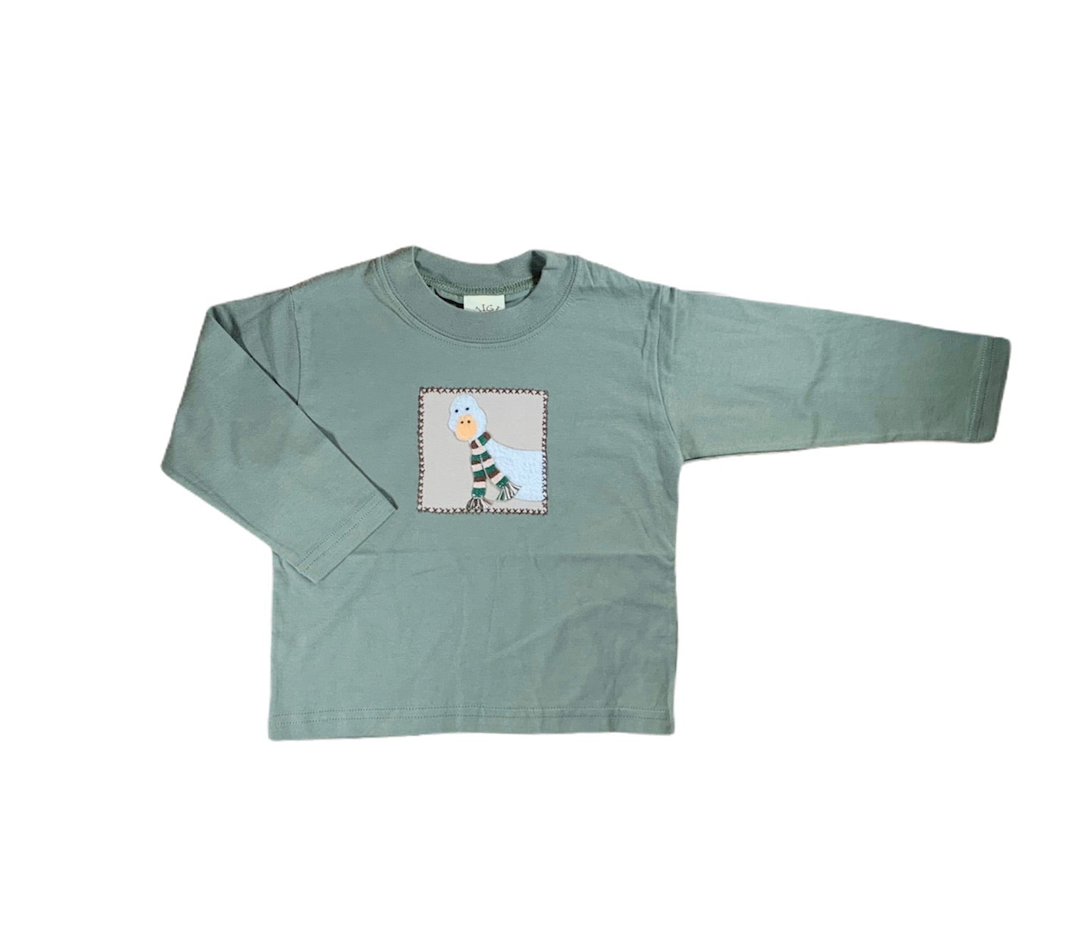 Green Duck Long Sleeved Tee