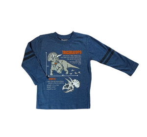 Blue Triceratops Shirt
