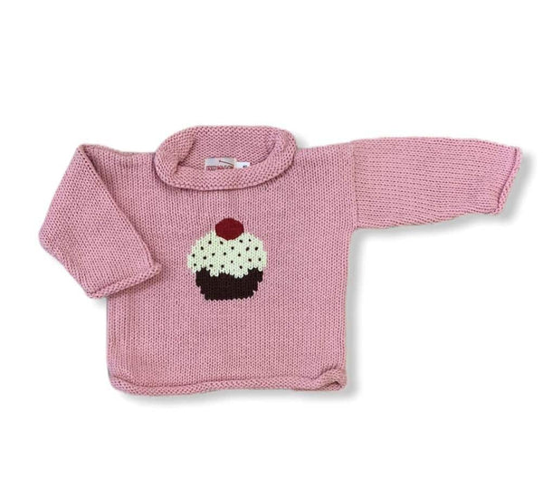 Pink Cupcake Roll Neck Sweater