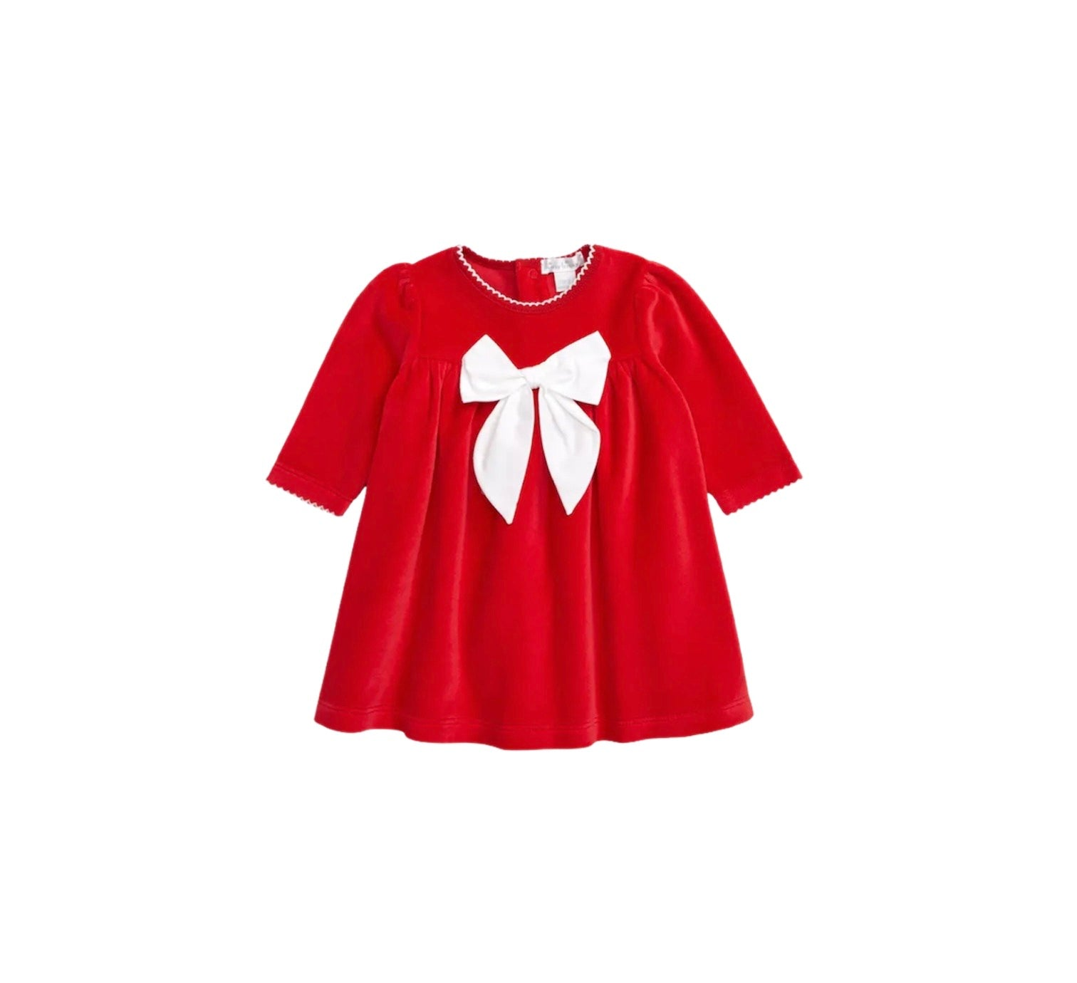 Red Velour Bow Dress