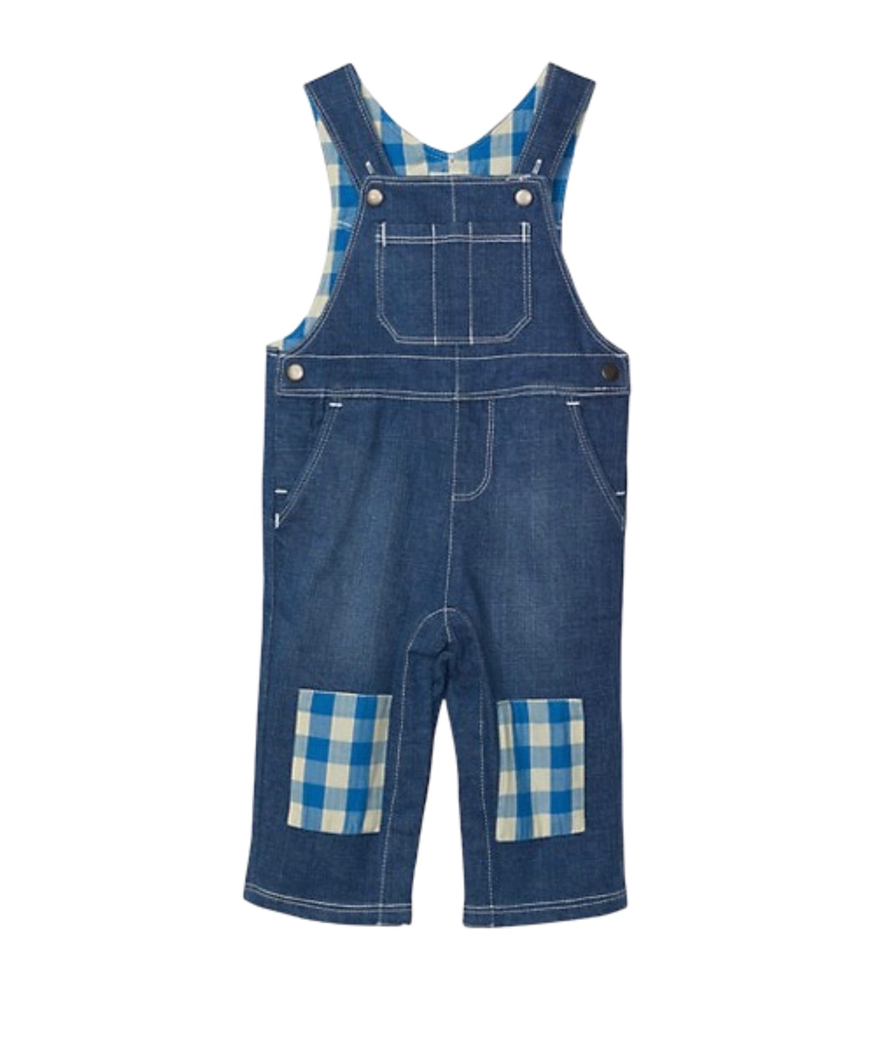 Gingham Patch Overalls
