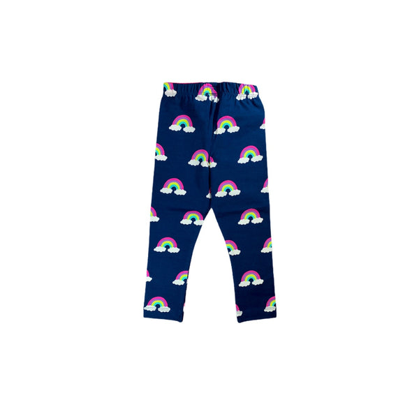 Navy Rainbow Print Leggings