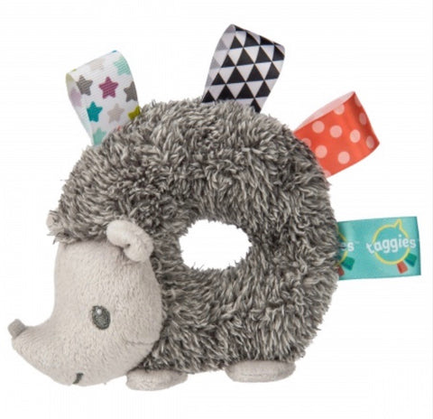 Satin Tag Hedgehog Rattle