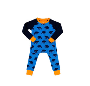 Blue Bears Cotton Raglan Pajama Set