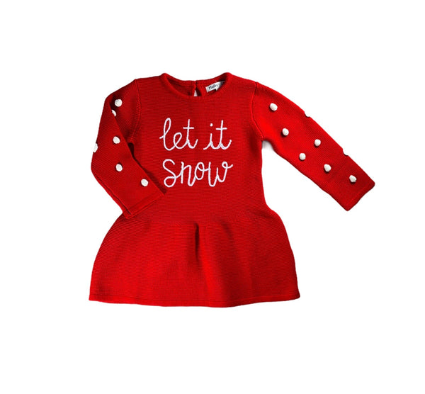 Red Let It Snow Dress