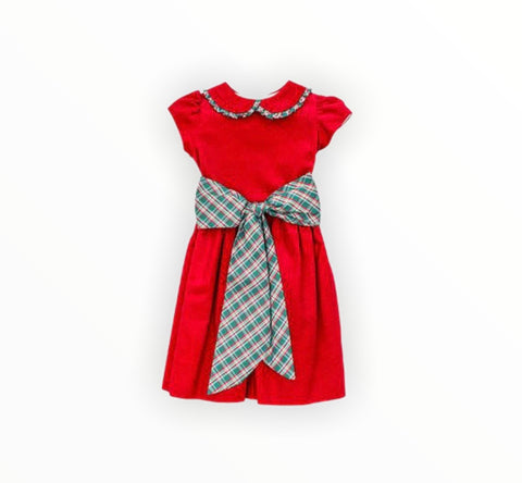 Red Plaid Bow Dress