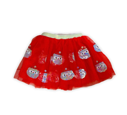Red Sequin Santa Tutu