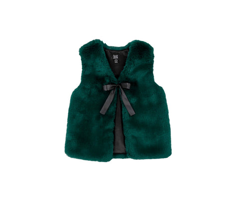 Green Faux Fur Vest
