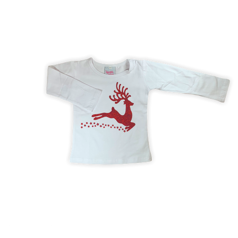 Red Glitter Reindeer Shirt