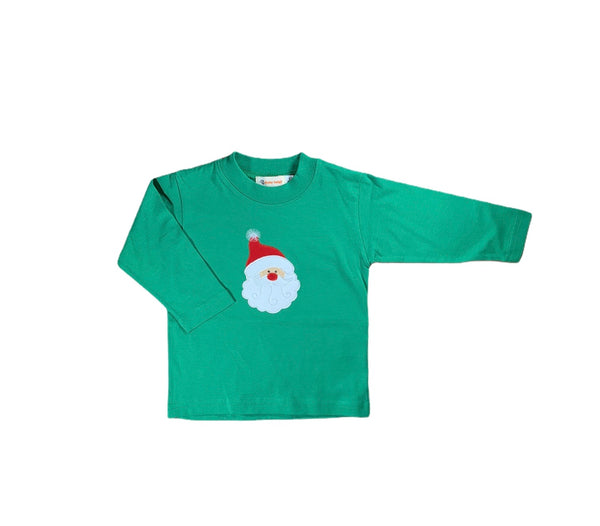 Green Santa Long Sleeve Tee