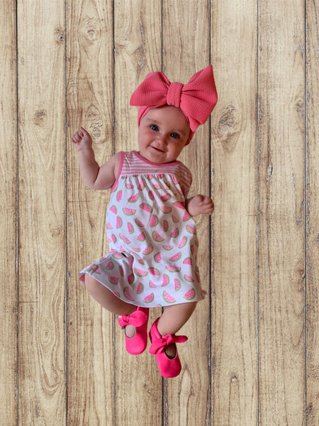 Infant Watermelon Striped Dress