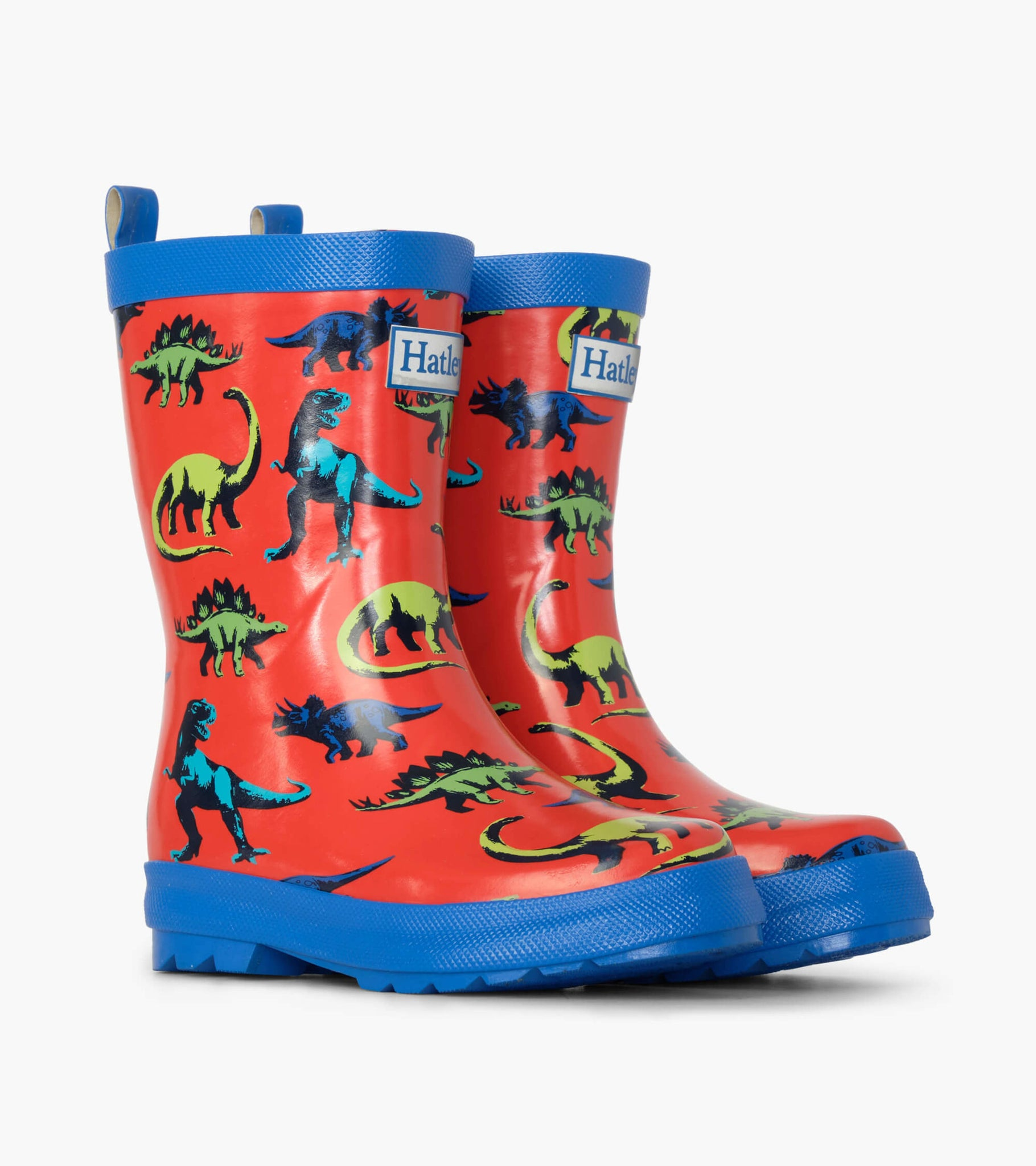 Red Painted Dinos Rain Boots