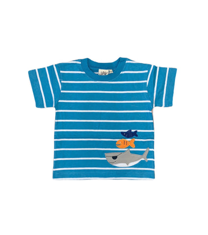 Blue Striped Fish Tee