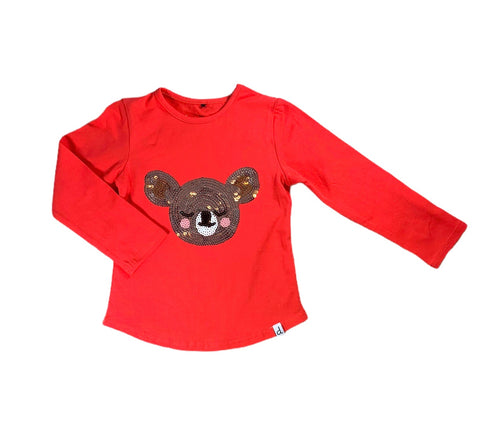 Red Sequin Koala Shirt