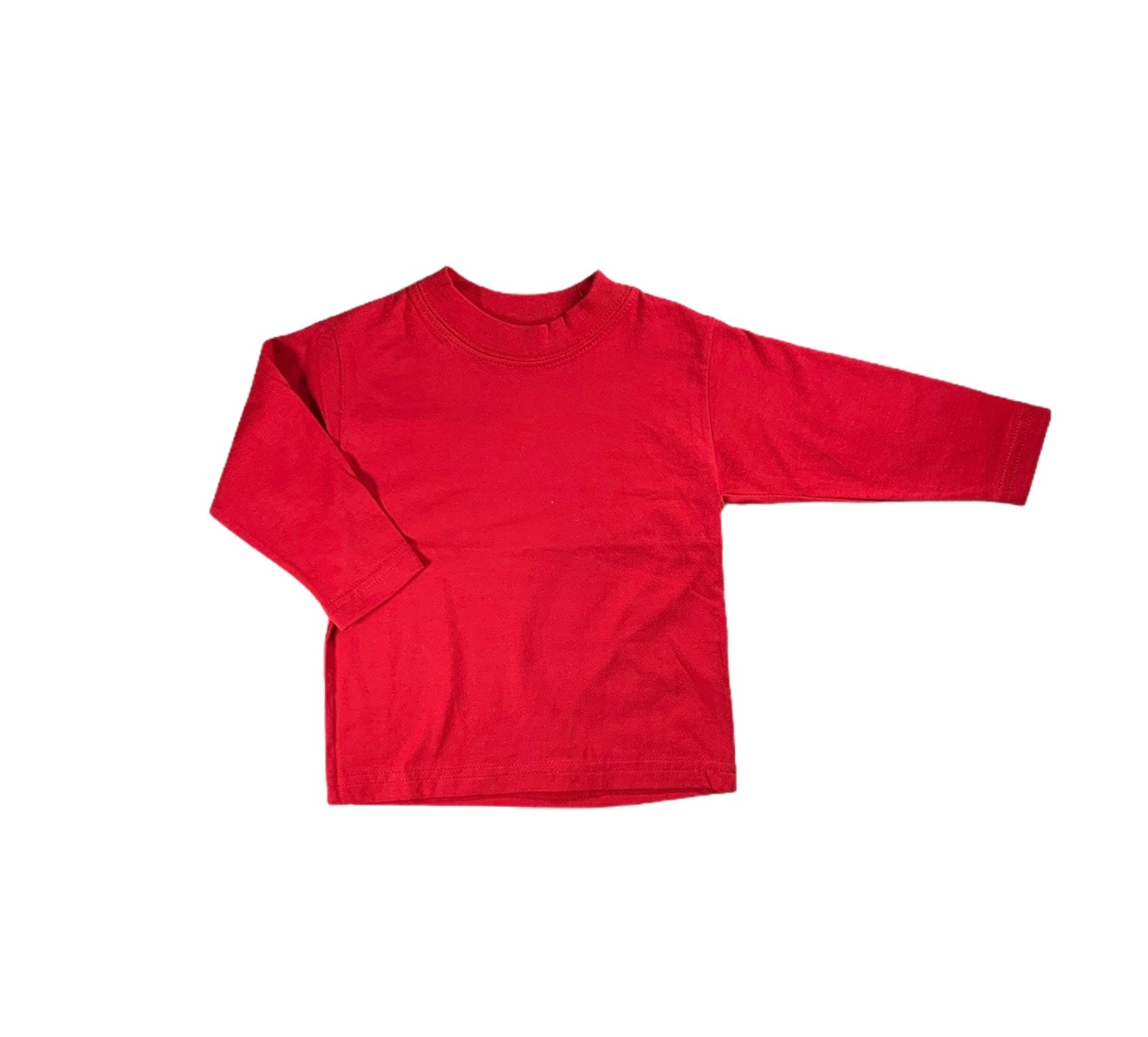 Red Long Sleeved Ringer Shirt