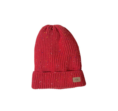 Red speckle hat