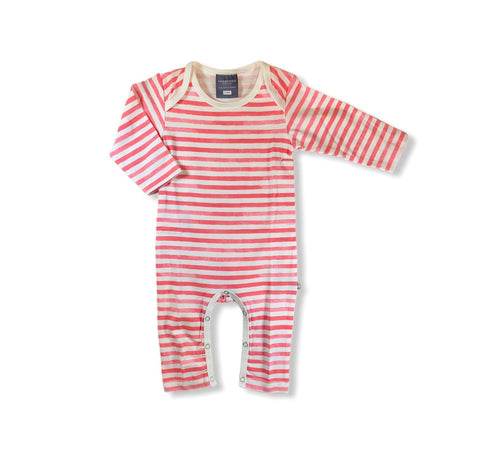 Watercolor Red Stripe Romper