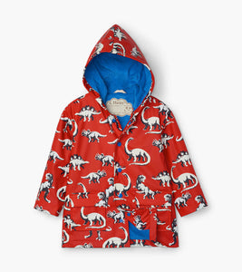 Red Painted Dinos Color Changing Raincoat