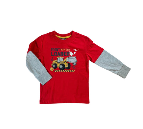 Red And Grey Front Loader Shirt