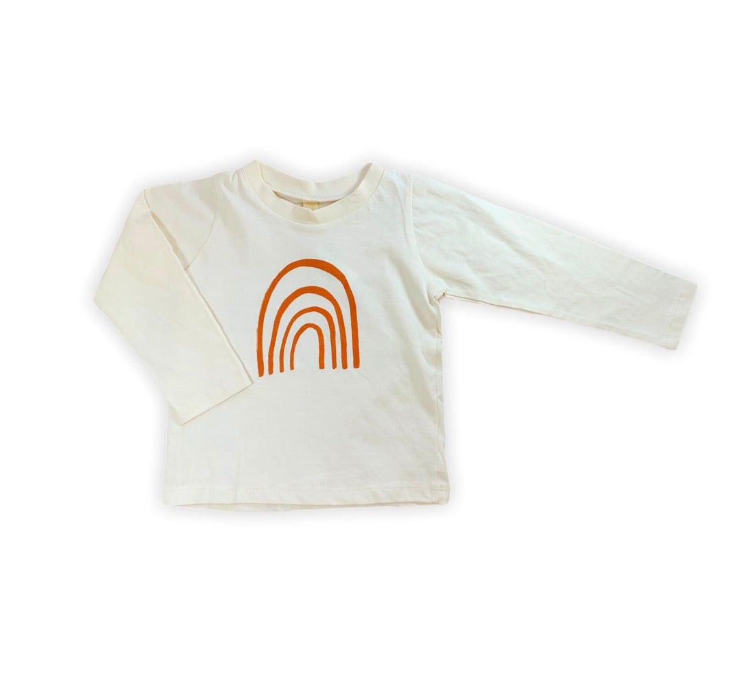 Ivory Rainbow Long Sleeve Tee