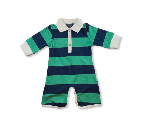 Green and Navy Rugby Romper